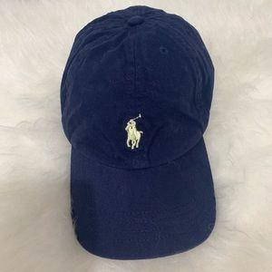 Polo Ralph Lauren blue cotton chino baseball cap